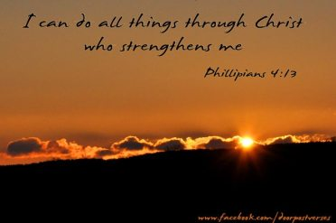 I Can Do All Things ~ Used with permission Doorpost Verses on Facebook