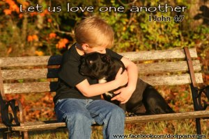 Let us love one another used with permission from DoorPost Verses on Facebook