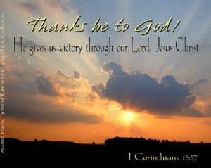 Thanks Be To God used with permission Doorpost Verses on Facebook