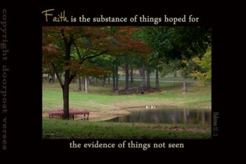 Faith is The Substance used with permission Doorpost Verses on Facebook