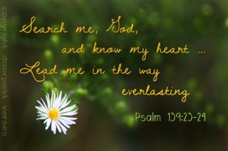 Search me Oh Lord used with permission DoorPost Verses
