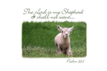 The Lord is My Shepherd used with permission Doorpost Verses on Facebook