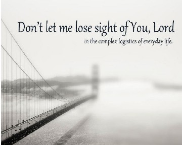 Don't lose sight used with permission IBible Verses