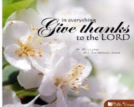 Give Thanks used with permissionIBible Verses