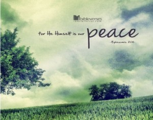 He is our Peace used with permission IBible Verses