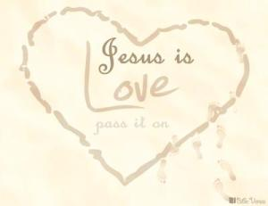 Jesus is Love used with permission IBible Verses