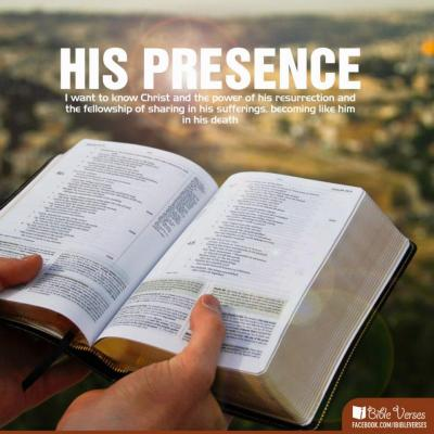 His Presence used with permission IBible Verses