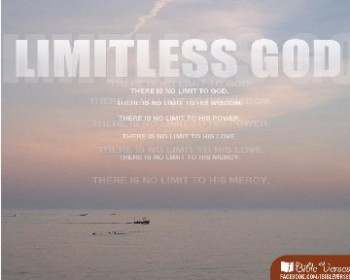 Limitless God used with permission IBible VErses
