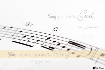 Sing Praises used with permission IBible Verses