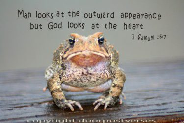God Looks At The Heart used with permission Door Post Verses