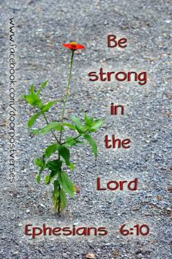 Be Strong in The Lord used with permission Door Post VErses