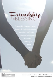 friendship-is-blessing~ CHRISTian poetrybydeborahann~used with permission IBible Verses
