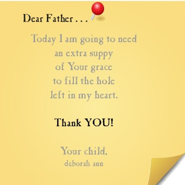 Extra Suppy of Grace  ~CHRISTIAN poetry by deborah ann ~