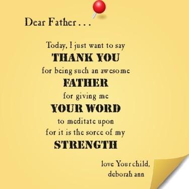 Sticky Note To God 7-5-14 ~CHRISTian poetry by deborah ann