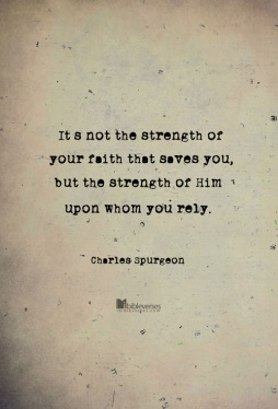 ~ CHRISTian poetry by deborahann ~ it-is-not-the-strength-of-your-faith used with permission IBible Verses