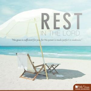 Rest In the Lord used with permission IBible Verses