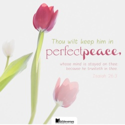 ~ His Perfect Peace ~ CHRISTian poetry by deborah ann