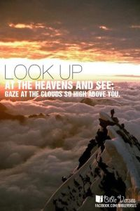~ CHRISTian poetry by deborahann ~ Look Up - IBible Verses