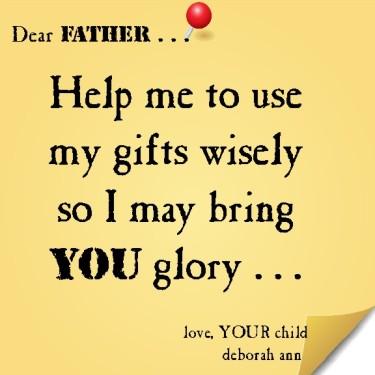 Sticky Note To God 11.25.14