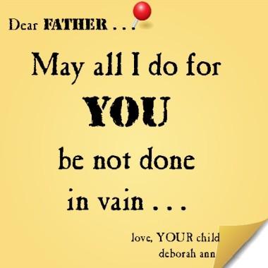Sticky Note To God 11.30.14