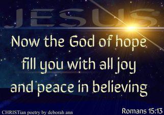 CHRISTmas Hope ~ CHRISTian poetry by deborah ann free to use