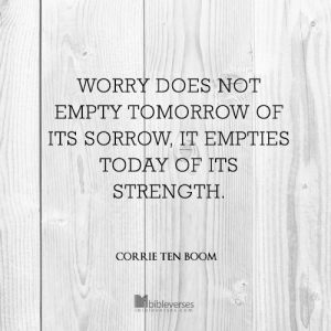 Worry used with permission IBible Verses