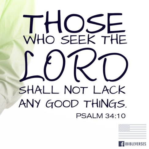 Those Who Seek the Lord used with permission IBible Verses