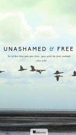 unashamed-and-free used with permission IBible Verses