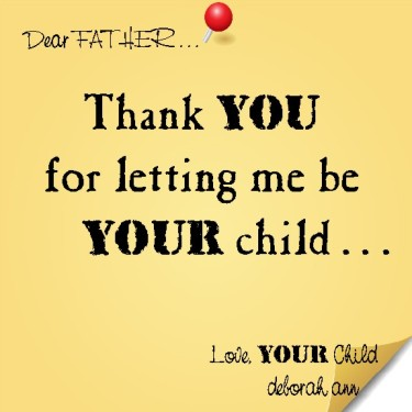 Sticky Note To God ~ CHISTian Poetry by Deborah Ann ~ 04.23.15 ~