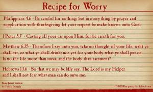 Recipe for Worry ~ CHRISTian poetry by deborah ann