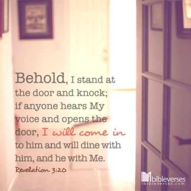 Who's That Knocking ~ CHRISTian poetry by deborah ann ~ photo IBible verses