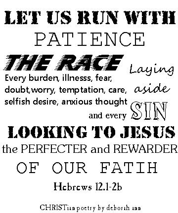 Staying in the Race ~ CHRISTian poetry by deborah ann