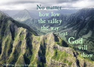 No Matter How Low ~ CHRISTian poetry by deborah ann
