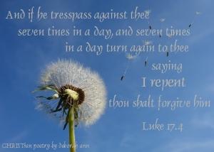 God's Forgiveness ~ CHRISTian poetry by deborah ann