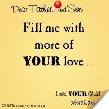 STICKY NOTE TO GOD ~ CHRISTian poetry by deborah ann ~ 02.23.16 ~