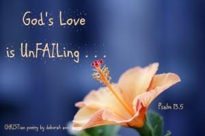 Unfailing Love ~ CHRISTian poetry by deborah ann