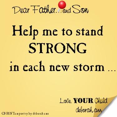 STICKY NOTE TO GOD ~ CHRISTian poetry by deborah ann ~ 03.12.16 ~
