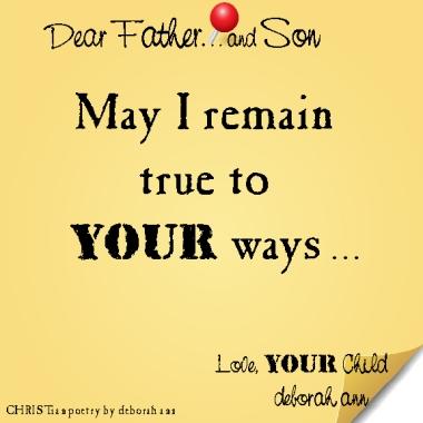 STICKY NOTE TO GOD ~ CHRISTian poetry by deborah ann ~ 04.03.16 ~