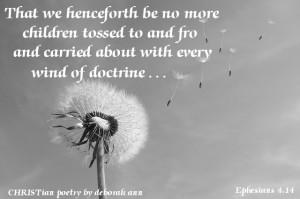 Carried Away ~ CHRISTian poetry by deborah ann