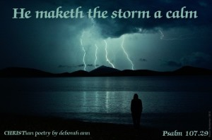 Peace in The Storm ~ CHRISTian poetry by deborah ann