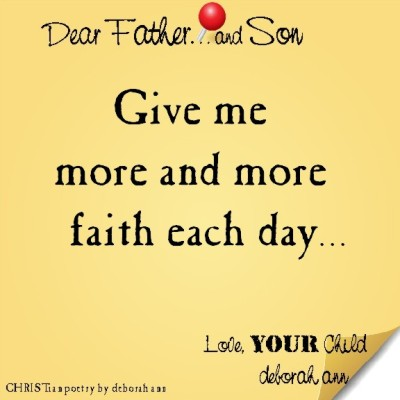 STICKY NOTE TO GOD ~ CHRISTian poetry by deborah ann ~ 04.22.16 ~