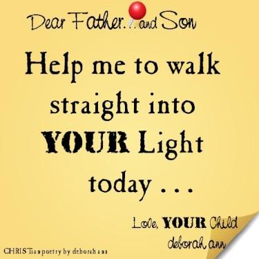 STICKY NOTE TO GOD ~ CHRISTian poetry by deborah ann. ~ 04.24.16 ~