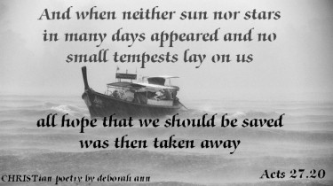 When All Hope is Gone ~ CHRISTian poetry by deborah ann