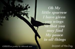 My Little Sparrow ~ CHRISTian poetry by deborah ann