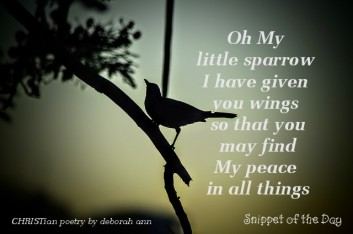 My Little Sparrow ~ CHRISTian poetry by deborah ann