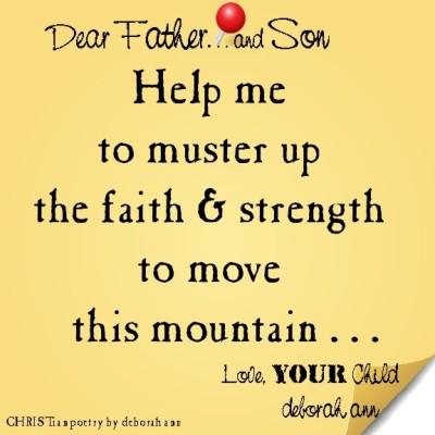 STICKY NOTE TO GOD ~ CHRISTian poetry by deborah ann ~ 05.23.16 ~