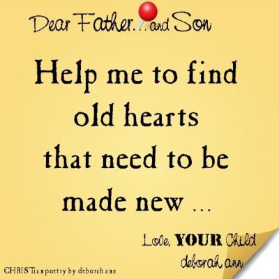 STICKY NOTE TO GOD ~ CHRISTian poetry by deborah ann ~ 06.01.16 ~