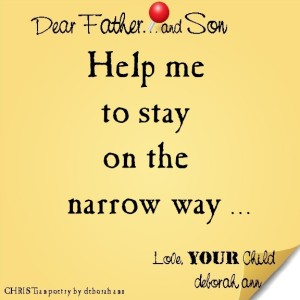 STICKY NOTE TO GOD ~ CHRISTian poetry by deborah ann ~ 06.24.16 ~