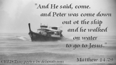 Ditching This Boat ~ CHRISTian poetry by deborah ann