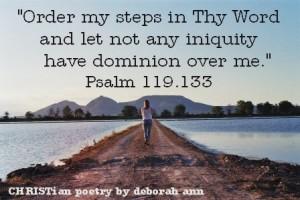 Establish My Steps ~ CHRISTian poetry by deborah ann